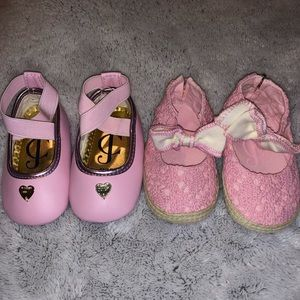 Baby girls Juicy Couture shoes (2 pairs)